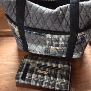 Authentic Bella Taylor purse with matching wallet